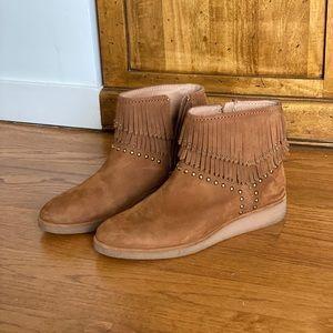 UGG suede ankle boots - chestnut
